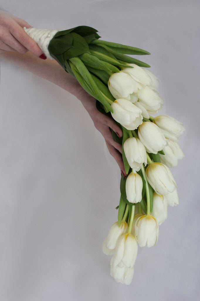 Букет невесты своими руками из тюльпанов