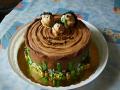 Вариант торта на деревянную свадьбу
