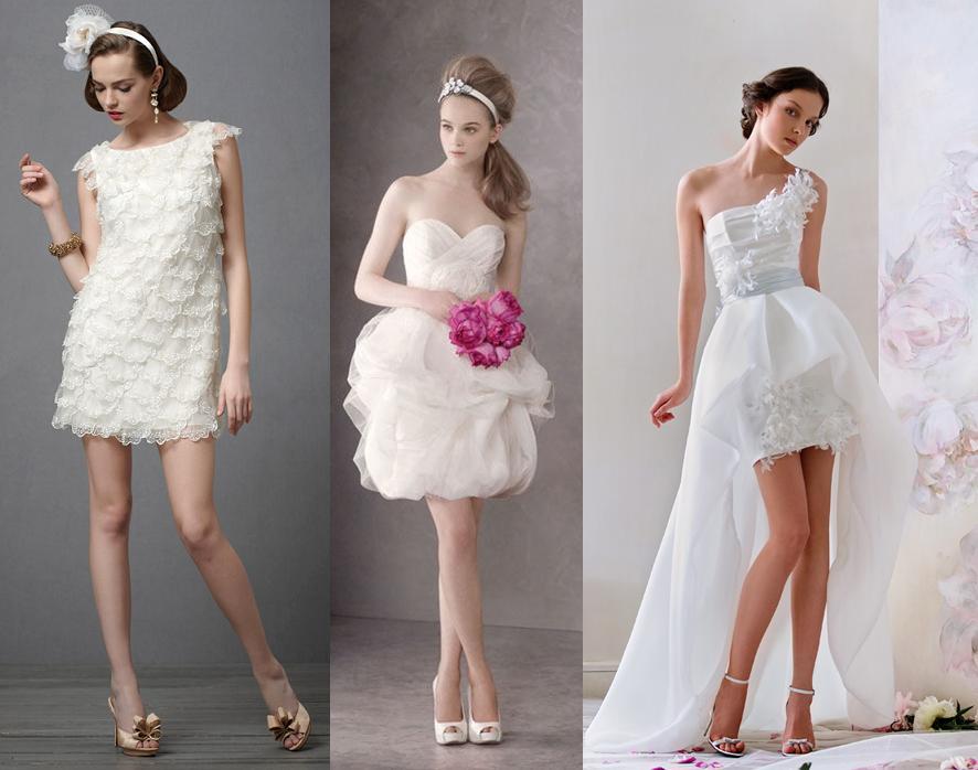 Свадебные облегающие короткие платья
