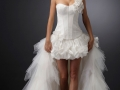 Подчеркнуть преимущества невесты - основная цель короткого убранства