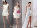 Разновидности коротких свадебных платьев