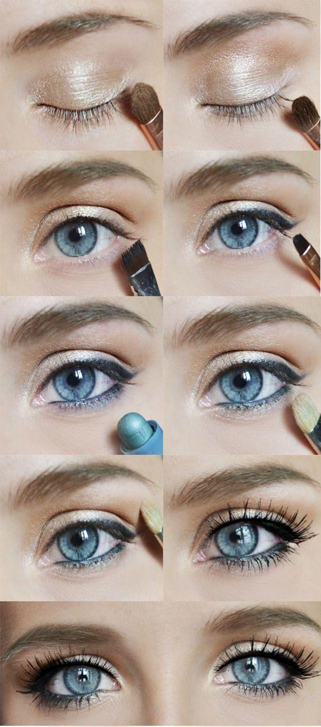 Как в домашних условиях сделать глаза голубыми