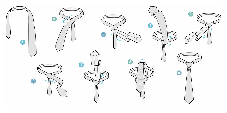 Как правильно завязывать галстук мастер класс - УО РМД