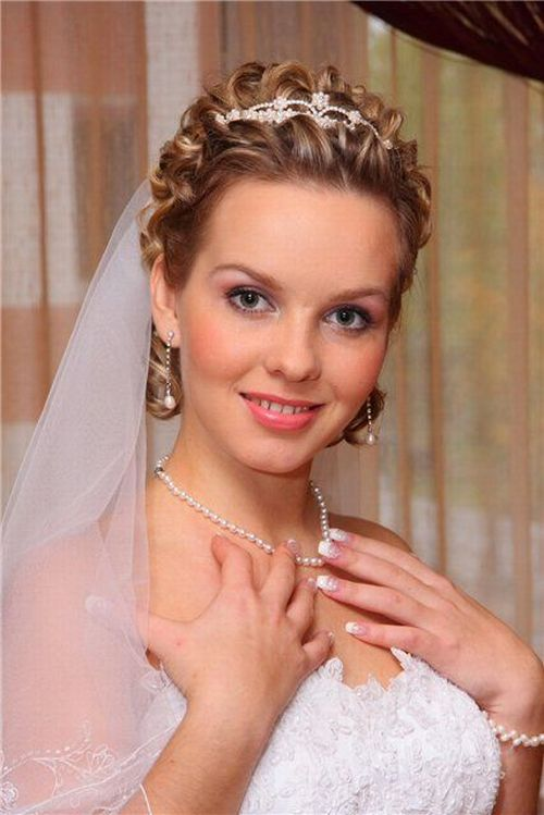 Свадебные прически с фатой как делать видео
