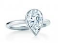 Помолвочное кольцо в форме капли