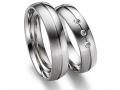 Обручальные кольца из белого золота высшей пробы