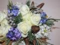 Букет невесты для зимнего свадьбы очень гармоничный