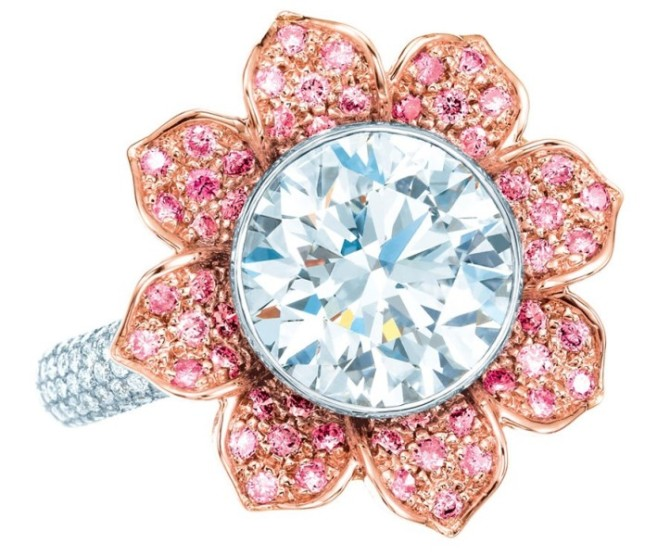 Желтые, розовые и кристально чистые брильянты - основные камни компании