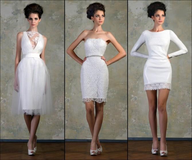 Короткие кружевные платья