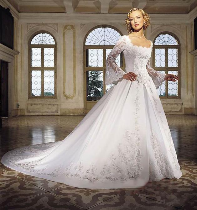 Длинный рукав в свадебном платье