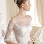 Неповторимое свадебное платье с кружевным верхом