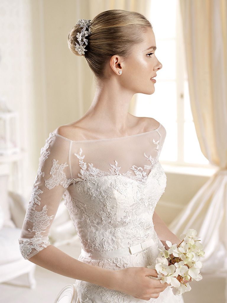 Утонченные свадебные платья с кружевным верхом