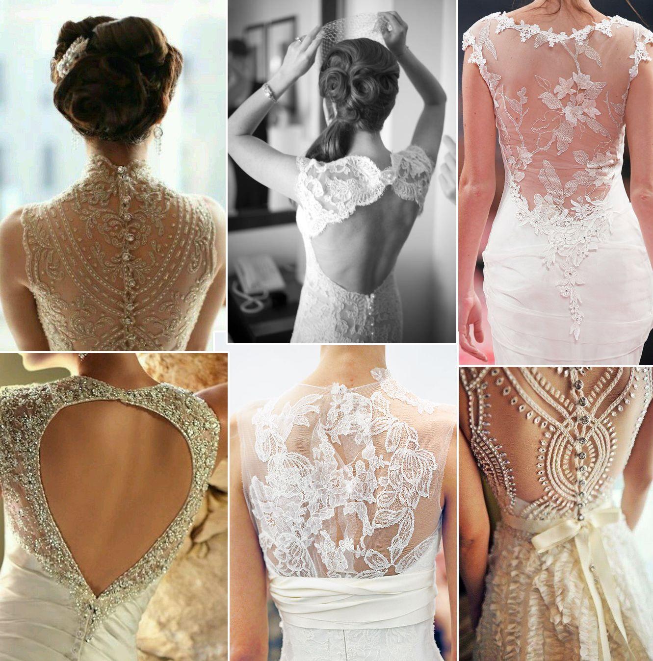 Кружевной узор на спине платья огромный простор для творчества