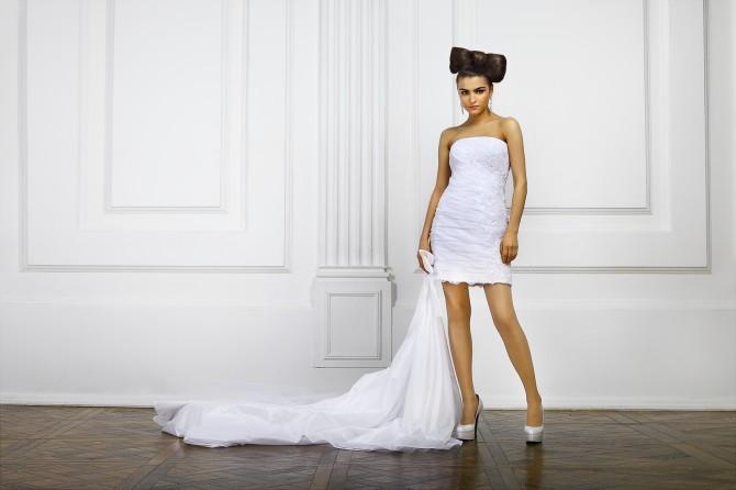 В свадебных нарядах трансформерах шлейф можно отстегнуть
