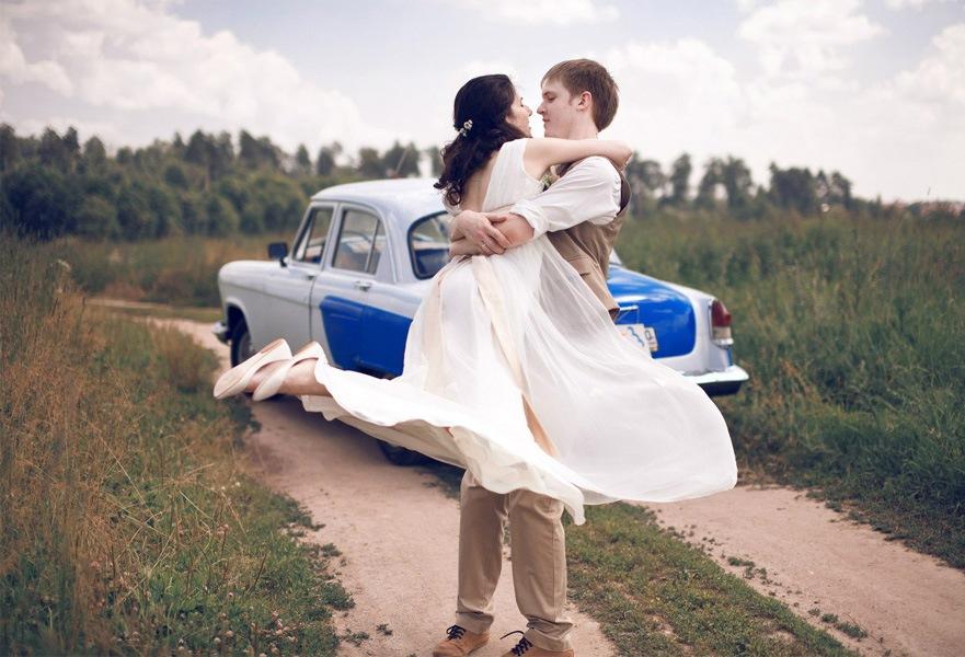 Транспортное средство не последний элемент в планировании свадьбы в стиле рустик