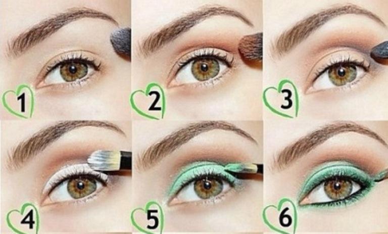 Простой вариант увеличения акцента глаз с помощью макияжа