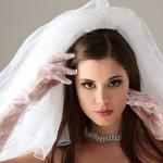 Эффектный свадебный макияж для карих глаз