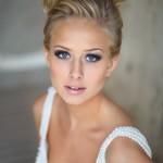 Элегантный свадебный макияж для голубых глаз