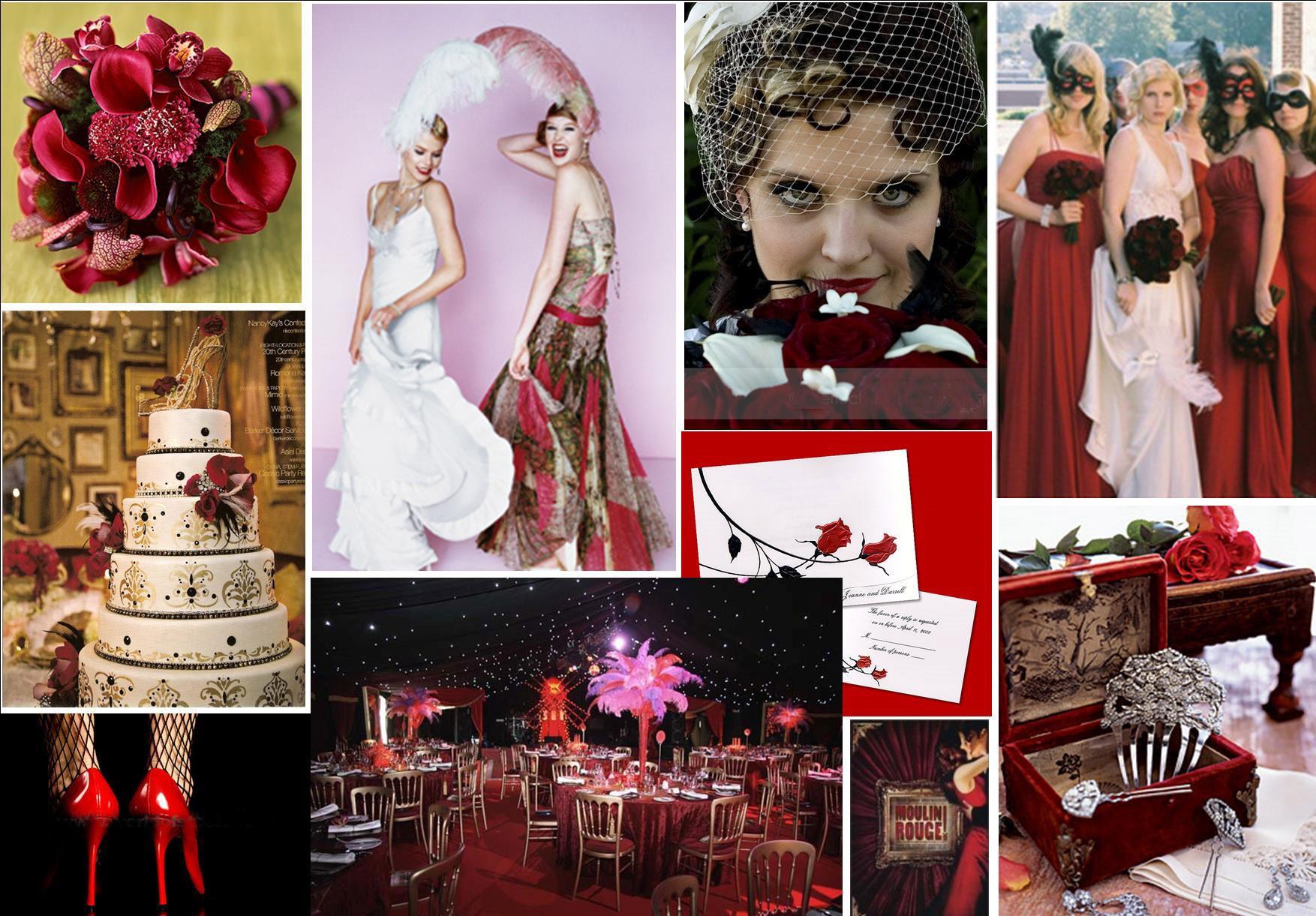 """Свадьба в стиле """"Мулен Руж"""" оставляет большой простор для творческого подхода"""