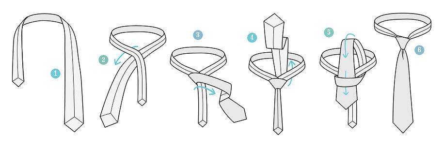 Завязываем простой узел галстука
