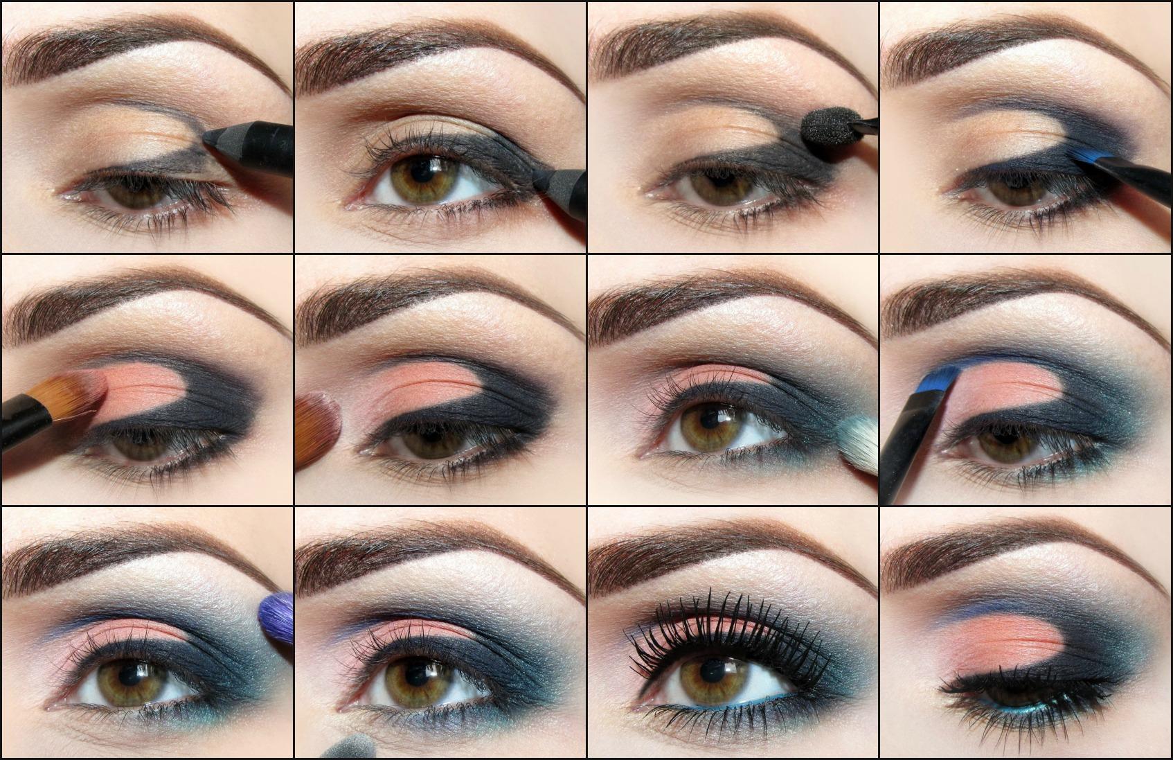 """Вариант макияжа для глаз с нависшим веком """"Птичка"""""""