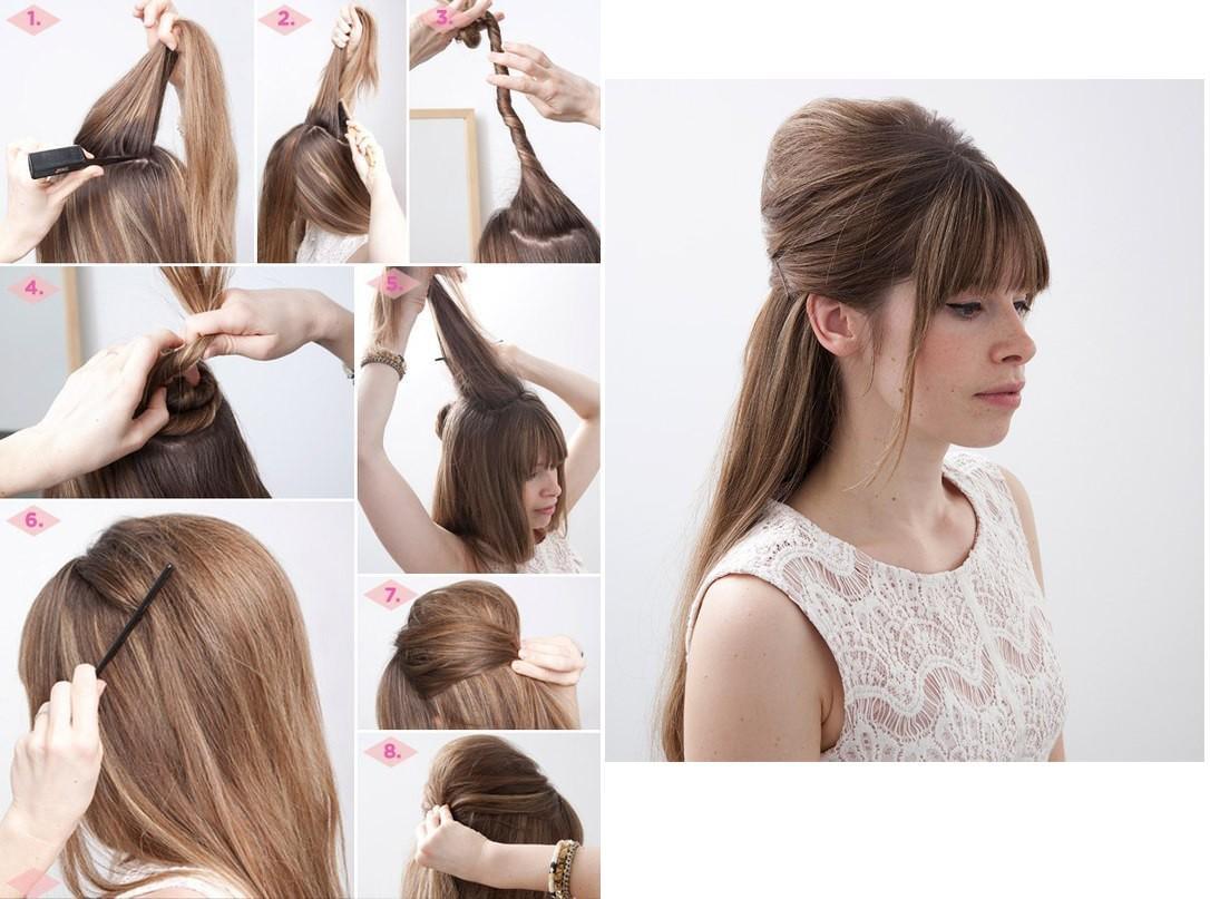 Воссоздать высокую прическу своими руками совсем не сложно, конечно если длина волос позволяет