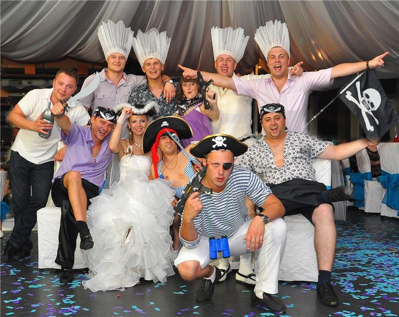 Отчаянные пираты универсальные герои для многих стильных свадеб